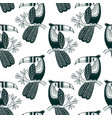 seamless pattern of cute toucan in boho style vector image