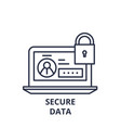 secure data line icon concept secure data vector image vector image
