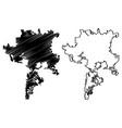 semarang city republic indonesia java island vector image vector image