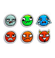 set cute emoji vector image