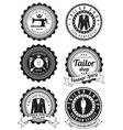 Set of black round badges for tailor shops vector image vector image