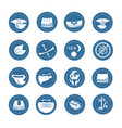simple set of diaper related icons vector image vector image