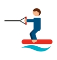 ski water isolated icon design vector image vector image