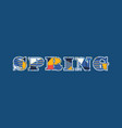 spring concept word art vector image vector image