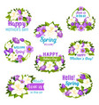 spring season and mother day holiday flower icon vector image vector image