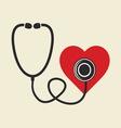 stetoskop i srce resize vector image