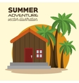 summer adventure landscape icon vector image vector image