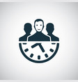 team time icon for web and ui on white background vector image vector image