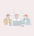 teamwork idea brainstorming coworking business vector image