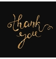 Thank you gold glitter card design chic vector image vector image