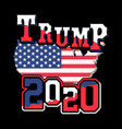 trump 2020 shirt design for supporters vector image vector image