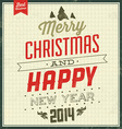 Typographic Christmas Vintage Background vector image vector image