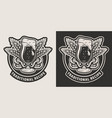 vintage brewing monochrome label vector image