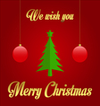 We wish you Merry Christmas vector image vector image