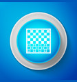 white board game of checkers icon chess board vector image vector image