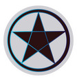 wicca star symbol on a white background vector image vector image