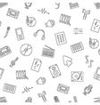 Music pattern black icons vector image