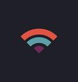 wifi computer symbol vector image