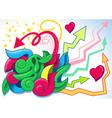 fun graffiti vector image