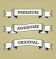 set of trendy vintage retro styled ribbons vector image