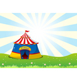 A circus tent at the top of the hill vector image vector image