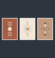 a set minimalistic posters with celestial vector image