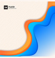 abstract orange and blue gradient curve form vector image vector image