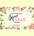 advertisement about the spring sale on defocused vector image vector image