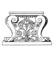 antique table support trapezophoron recumbent vector image vector image
