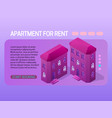 apartment for rent concept web page header design vector image
