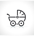 baby stroller thin line icon vector image