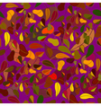 Beautiful violet color autumn leaf fall seamless vector image vector image