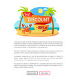 best discount 30 percent off advertisement label vector image vector image