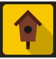 Birdhouse or nesting box icon flat style vector image vector image