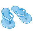 blue flip flops vector image