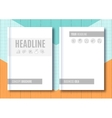 Brochure Mock-up Blank magazine Cover template vector image vector image