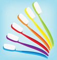 brush teeth colorful isolated vector image