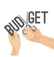 budget cutting process vector image