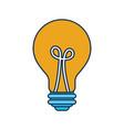 bulb light idea creativity concept vector image vector image