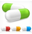 Capsule pills on white vector | Price: 1 Credit (USD $1)