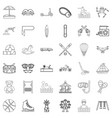 carousel icons set outline style vector image vector image
