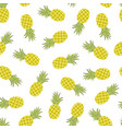 cartoon pineapples hand draw childish seamless vector image vector image
