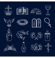 Christianity icons set outline vector image