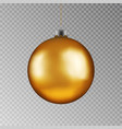 christmas gold ball handing on string xmas vector image vector image