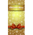 Christmas Snowflake Gold Menu vector image
