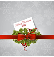 Christmas wreath design vector image