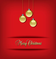 Classic Christmas background vector image