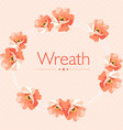 Cute Floral wreath in pastel colors vector image vector image