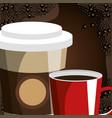 delicious coffee shop poster vector image vector image