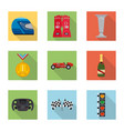 design of car and rally sign set of car vector image vector image